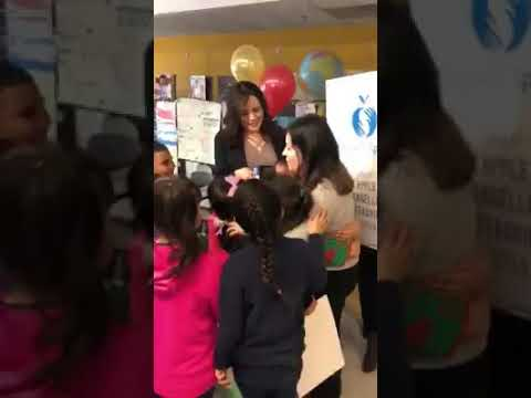 Anita Unzueta surprised with 2018 Golden Apple Award at Little Village Academy in Chicago