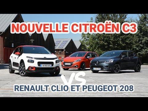 Nouvelle Citroën C3 vs Renault Clio 4 et Peugeot 208 - L'argus
