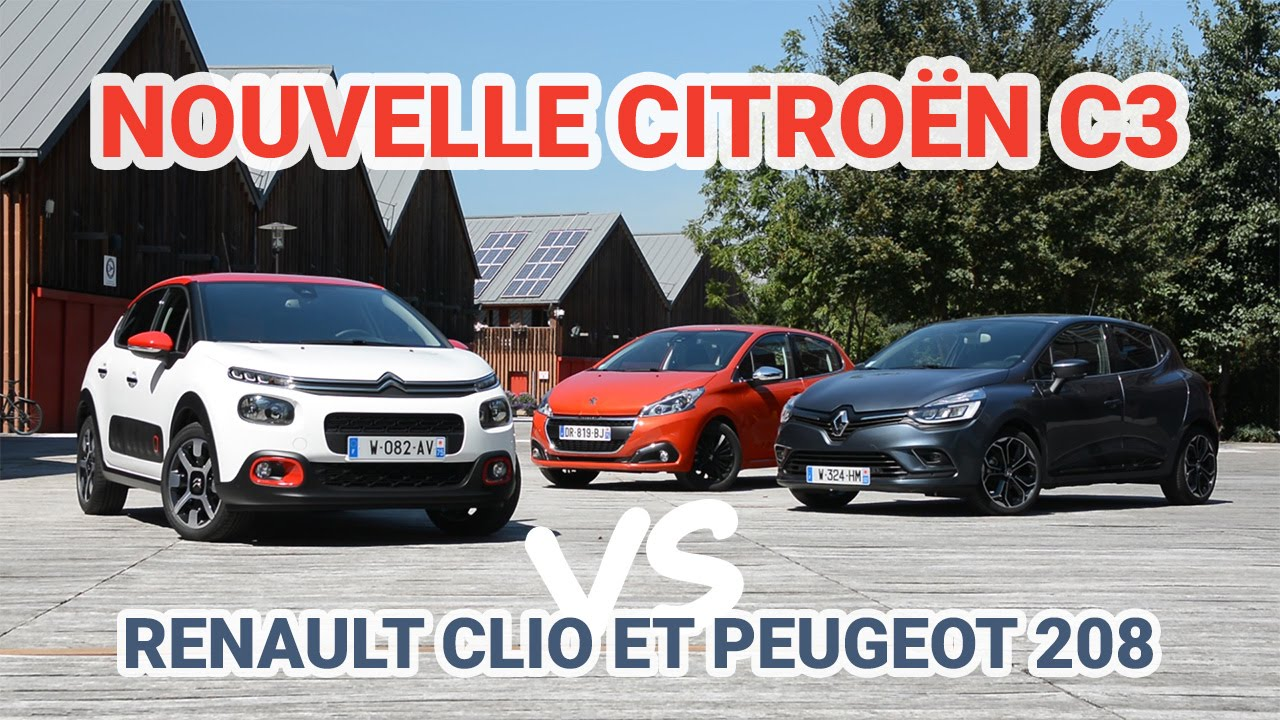 nouvelle citro n c3 vs renault clio 4 et peugeot 208 l. Black Bedroom Furniture Sets. Home Design Ideas