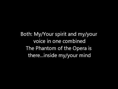 Phantom of the Opera Instrumental/Karaoke With Lyrics:)