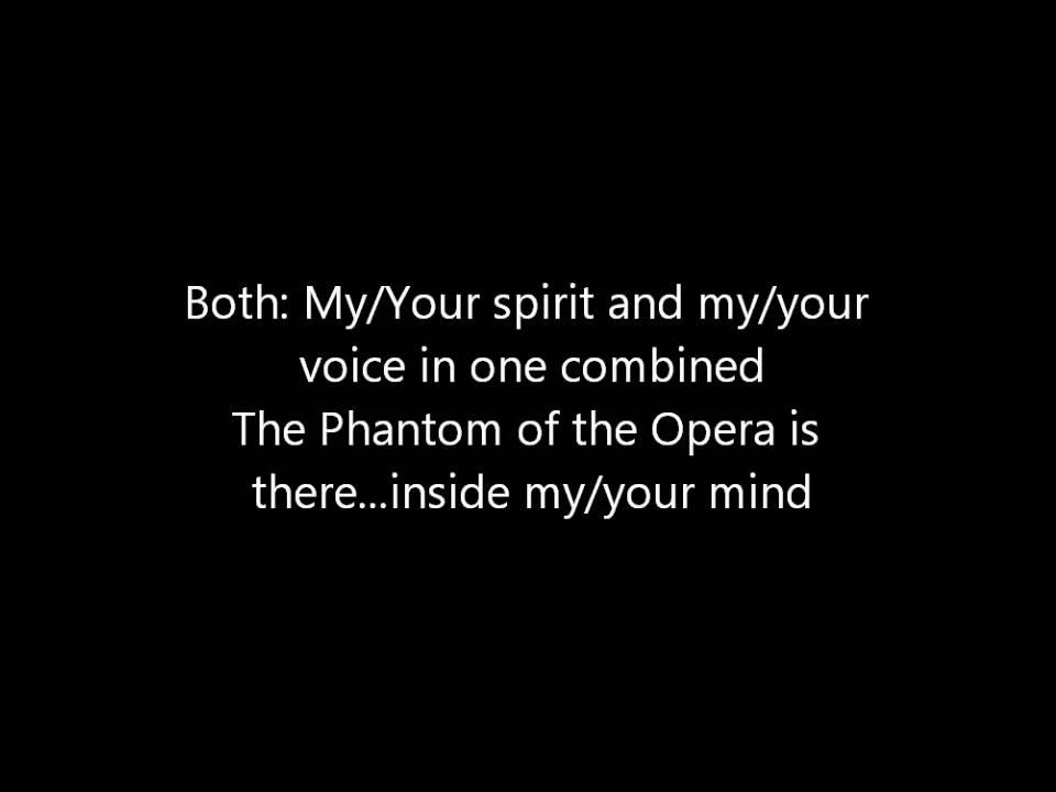 Lyric lyrics opera : Phantom of the Opera Instrumental/Karaoke With Lyrics:) - YouTube