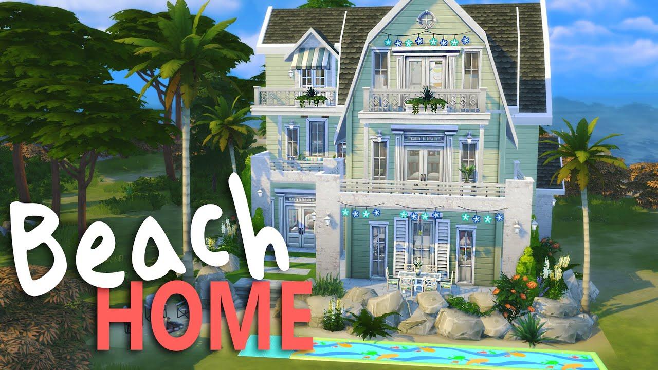 The Sims 4 House Building Cape Cod Beach Home Youtube
