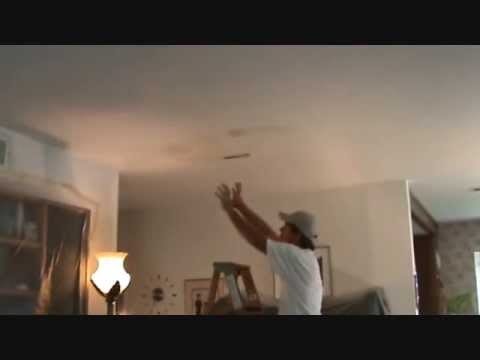 How to repair a water damaged ceiling Part 1