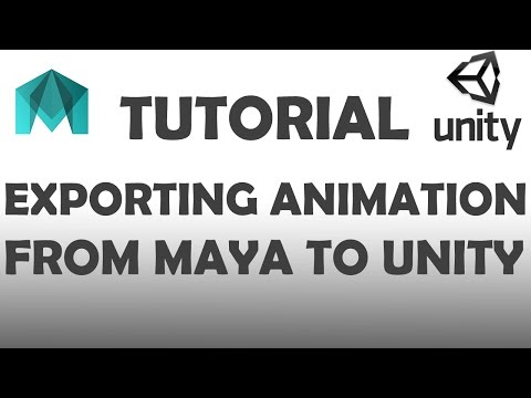 Maya to Unity Tutorial: Exporting rigs and Animation as FBX