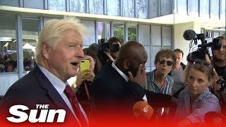 Proud dad Stanley Johnson reacts to his son Boris becoming the next PM