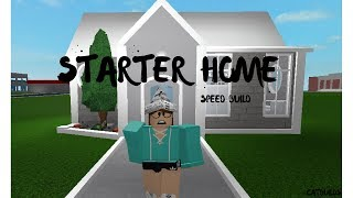 Bloxburg: Starter Home- Speed Build| ROBLOX