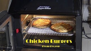 Chicken Burgers, From Frozen, Power Air Fryer Oven Elite Heating