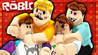 Roblox Adventures - DENIS, ALEX, CORL & SKETCH BEAT EACH OTHER UP! (Roblox Fisticuffs)