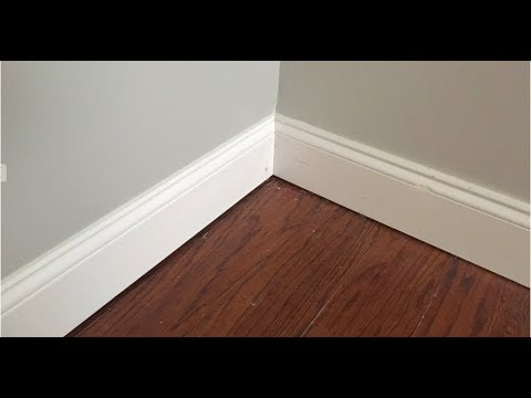 How To Cut Perfect Baseboard Inside Corners