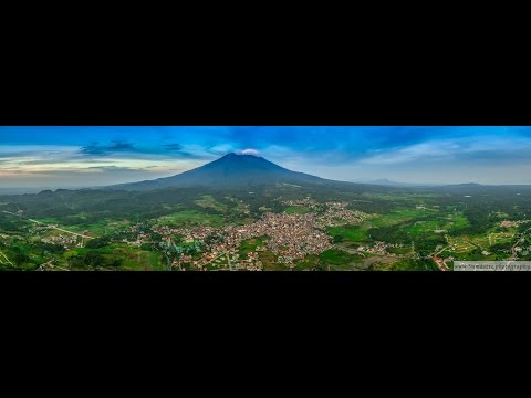 Lucban aerial video with Mount Banahaw