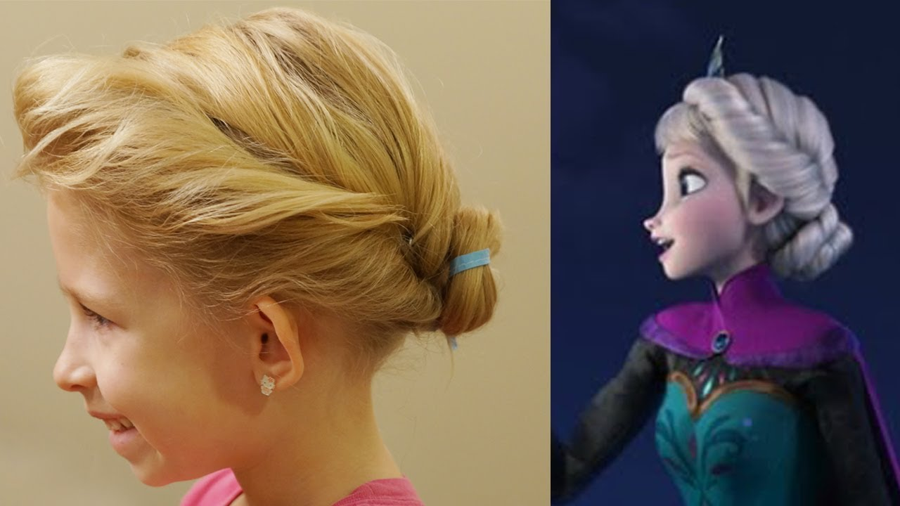 disney's frozen hair tutorial // elsa's coronation inspired hair // princess hairstyles