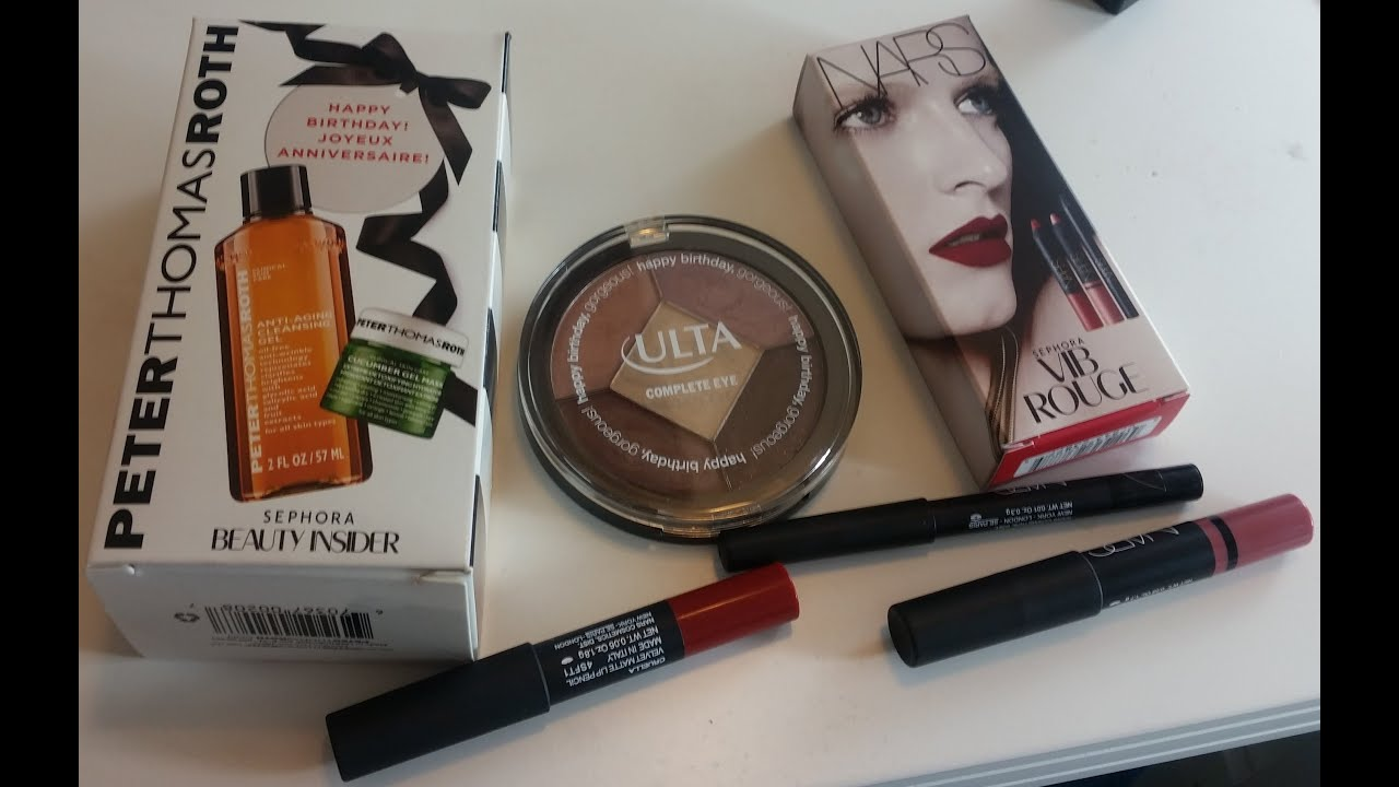 Birthday Gift 2015 From Sephora And Ulta