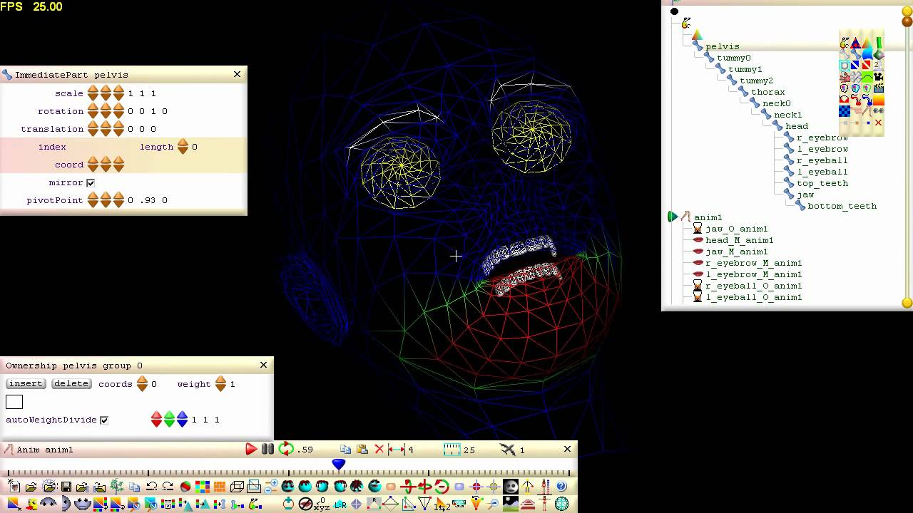 Beginners skinning poly morphing animation tutorial Easy 3d modeling software