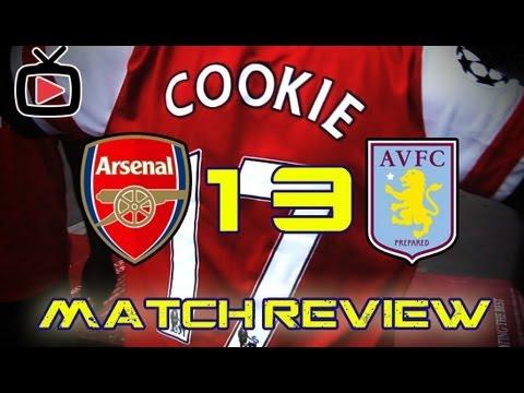 Arsenal FC Cookie's Match Review - Arsenal 1 Aston Villa 3 Home - ArsenalFanTV.com