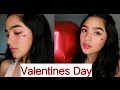 Simple Valentines Day makeup look