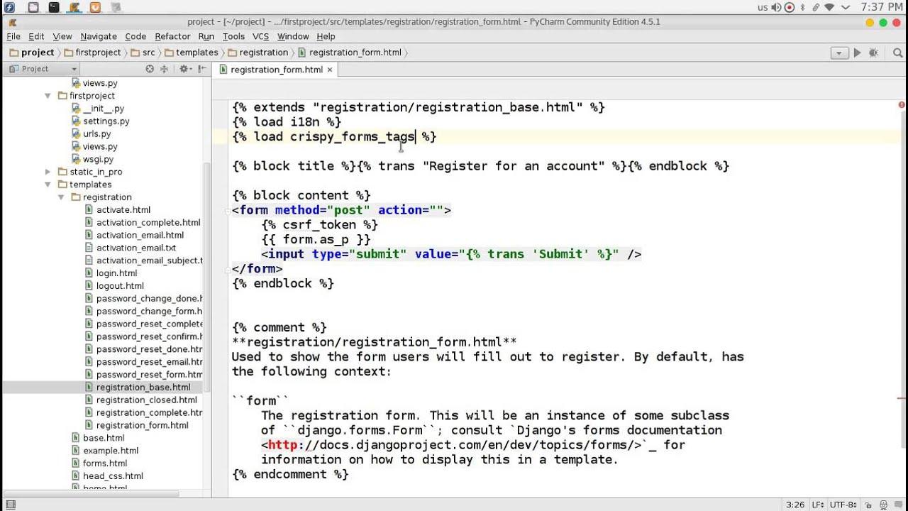 98 Python Web Django registration Redux قائمة التسجيل والدخول - YouTube