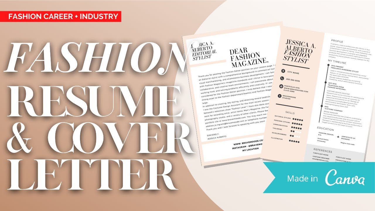 FORMATTING A FASHION INDUSTRY RESUME & COVER LETTER