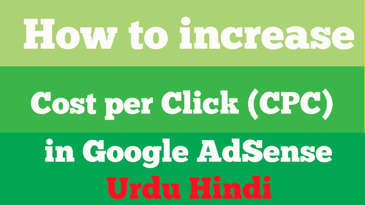 How to increase CPC on youtube in Urdu Hindi