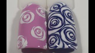Дизайн на типсах трафаретные розы(Всем привет! Меня зовут Корнеева Кристина, я основатель школы Korneeva Nail Art. И сегодняшнее видео, я посвящаю..., 2016-05-30T12:25:48.000Z)