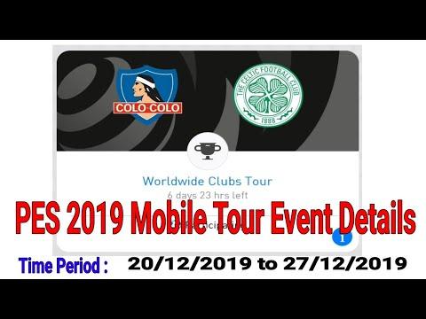 Worldwide Club Tour || PES 2019 Mobile Event Details