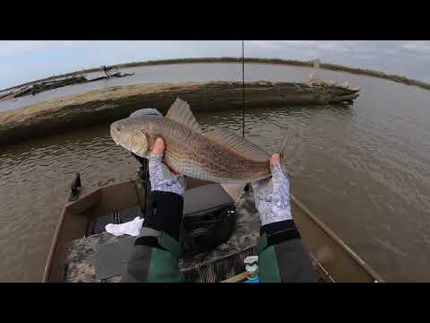 Fishing Really Low Tide For Redfish, Trout And Flounder In Matagorda TX.....Jon Boat To The Rescue!