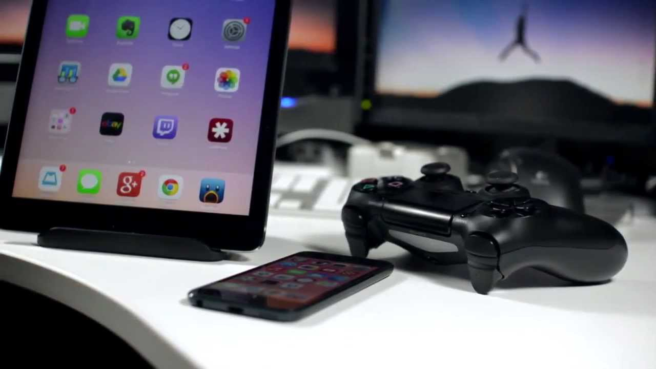 84ba94fb6 Use PS4 Controller With iPhone And iPad To Play iOS 7 Games - YouTube