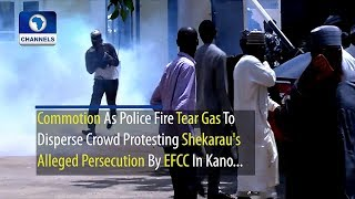 Commotion As Police Fire Tear Gas To Disperse Shekarau's Supporters