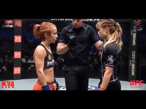 UFC КРАСИВЫЙ ЖЕНСКИЙ БОЙ  Лена Тхоревска VS Анджела Ли
