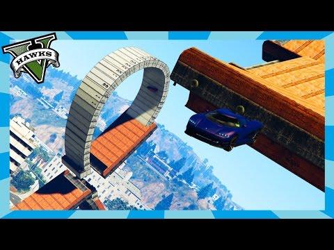 GTA 5 Custom Race - Hot Wheels Contact (Rockstar Editor Intro) Grand Theft Auto 5 Race Links