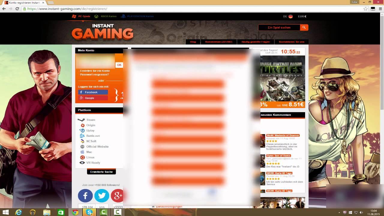 Instant Gaming Paysafecard Aufladen