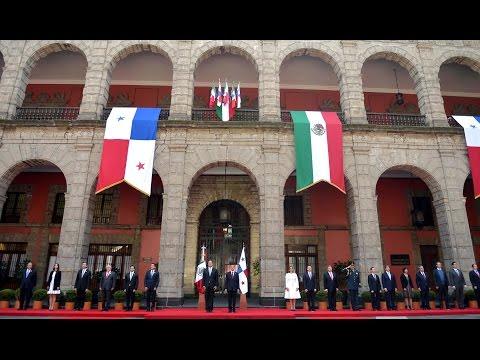Visita Oficial del Presidente de Panamá, Juan Carlos Varela Rodríguez: Bienvenida