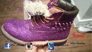 Diy Glitter Timberland Boots