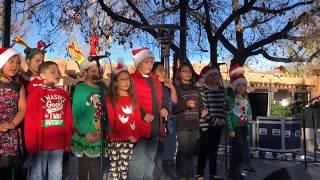 Lighting Of The Trees Ceremony 2017  Santa Fe, NM Plaza - Santo Niño Regional Catholic School Choir