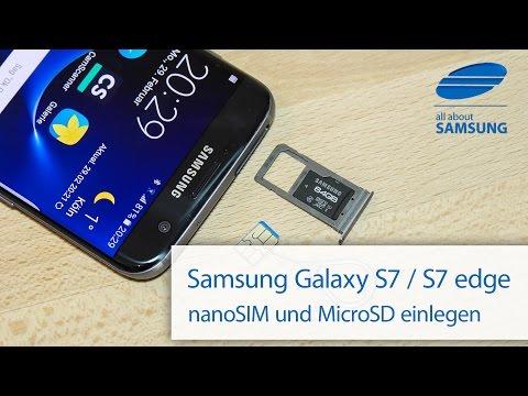 Samsung Galaxy S7 / S7 edge SIM Karte und MicroSD Karte einlegen 4k