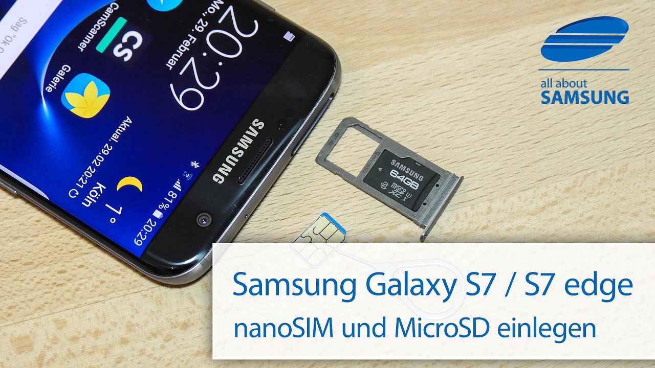 samsung galaxy s7 s7 edge sim karte und microsd karte einlegen 4k youtube. Black Bedroom Furniture Sets. Home Design Ideas