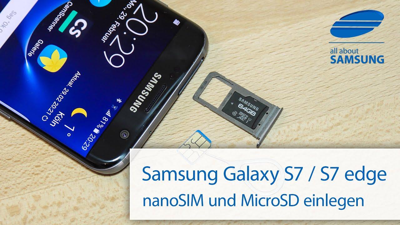 s7 sd karte aktivieren Samsung Galaxy S7 / S7 edge SIM Karte und MicroSD Karte einlegen
