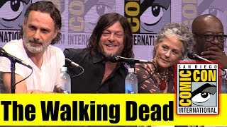 the walking dead comic con 2017 full panel andrew lincoln norman reedus jeffrey dean morgan