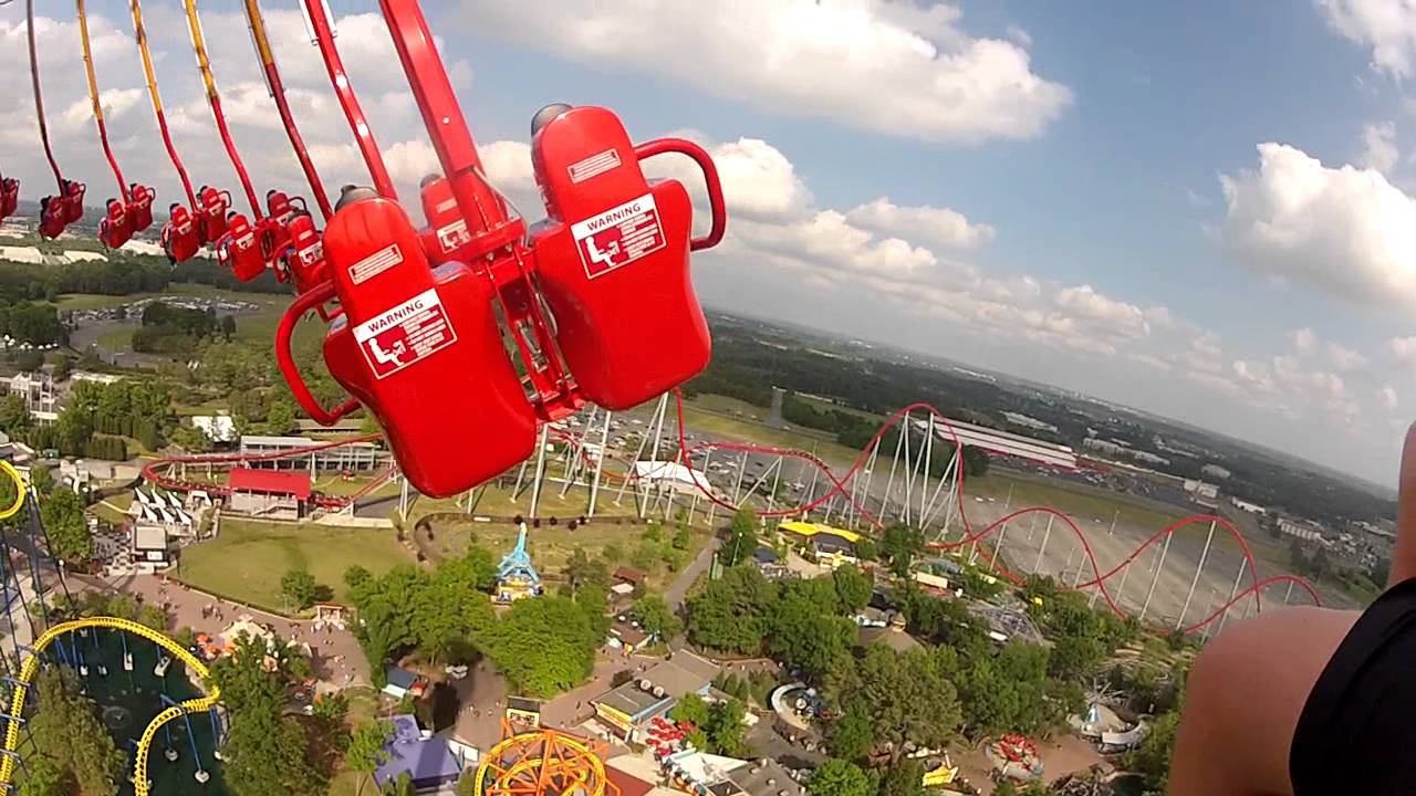 how tall is drop zone at carowinds