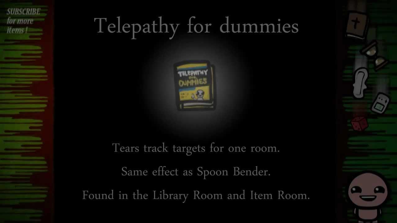 Binding Of Isaac Items Telepathy For Dummies Youtube