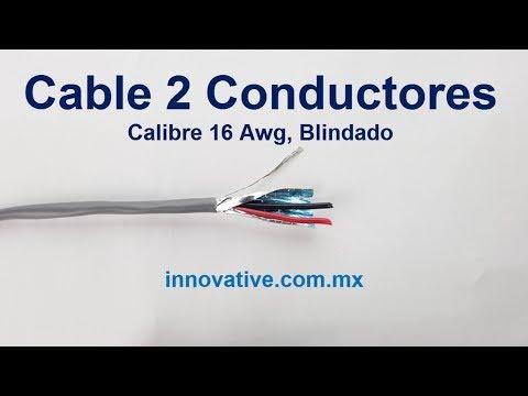 Cable 2 Conductores, calibre 16 Awg (1.32 mm²), Blindado