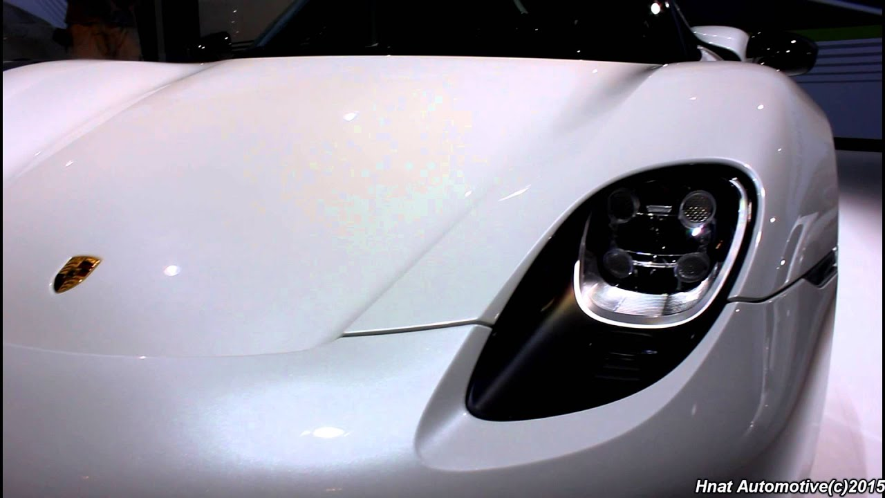 white porsche 918 spyder at la auto show 2014 youtube - Porsche 918 Spyder White