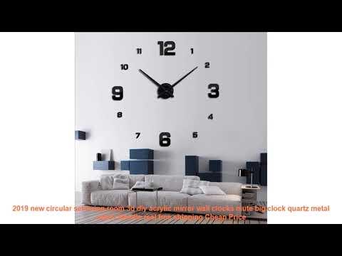 2019 new circular set living room 3d diy acrylic mirror wall clocks mu
