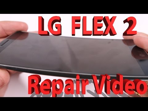 LG G Flex 2 Screen Repair, Charging port fix, Battery replacement video