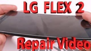 LG G Flex 2 Screen Repair, Charging port fix, Battery replacement video