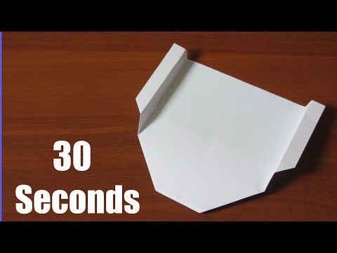 Best Paper Glider in 30 seconds. How To Make