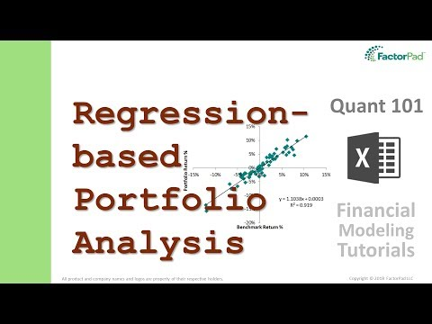 Analyze portfolio performance with linear regression in Excel   Financial Modeling Tutorials