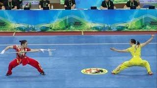 2014 1st China National Wushu Games 第一届全国武术运动大会 Women Duilian Jiangsu Team 江苏 沈清 张洋洋 9.62 thumbnail
