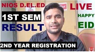 NIOS deled 1st Semester   result, 2nd year registration, Happy Eid l Online Partner