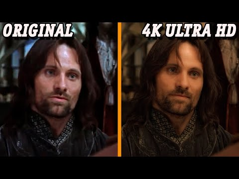 The Lord of The Rings Trilogy 4K Ultra HD vs Original | Graphics Comparison | 2020