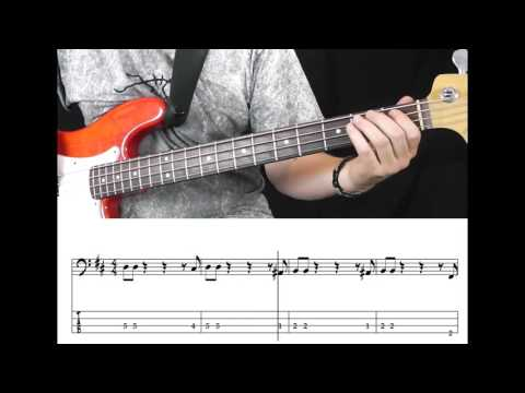 Bob Marley - Could You Be Loved (Bass Cover with Tabs in Video)
